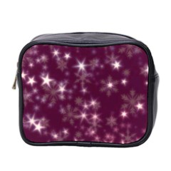 Blurry Stars Plum Mini Toiletries Bag 2 Side by MoreColorsinLife