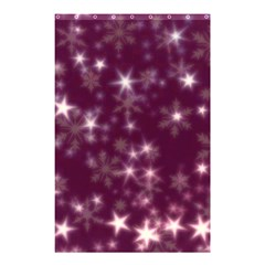 Blurry Stars Plum Shower Curtain 48  X 72  (small)  by MoreColorsinLife