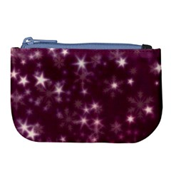 Blurry Stars Plum Large Coin Purse by MoreColorsinLife