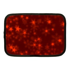 Blurry Stars Red Netbook Case (medium)  by MoreColorsinLife