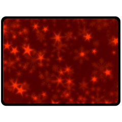 Blurry Stars Red Fleece Blanket (large)  by MoreColorsinLife