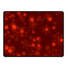 Blurry Stars Red Fleece Blanket (small) by MoreColorsinLife
