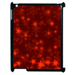 Blurry Stars Red Apple Ipad 2 Case (black) by MoreColorsinLife