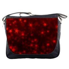Blurry Stars Red Messenger Bags by MoreColorsinLife
