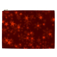 Blurry Stars Red Cosmetic Bag (xxl)  by MoreColorsinLife