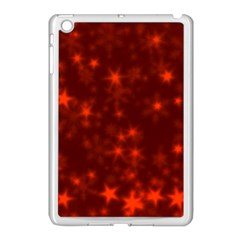 Blurry Stars Red Apple Ipad Mini Case (white) by MoreColorsinLife