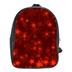 Blurry Stars Red School Bag (xl) by MoreColorsinLife