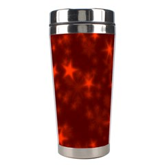 Blurry Stars Red Stainless Steel Travel Tumblers by MoreColorsinLife