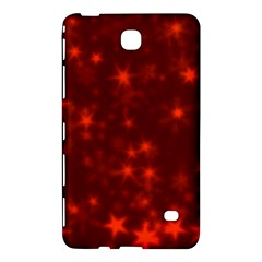 Blurry Stars Red Samsung Galaxy Tab 4 (8 ) Hardshell Case  by MoreColorsinLife