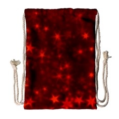 Blurry Stars Red Drawstring Bag (large) by MoreColorsinLife