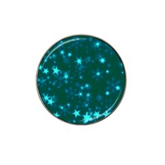Blurry Stars Teal Hat Clip Ball Marker by MoreColorsinLife