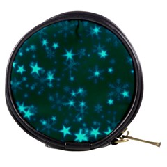 Blurry Stars Teal Mini Makeup Bags by MoreColorsinLife