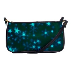 Blurry Stars Teal Shoulder Clutch Bags by MoreColorsinLife