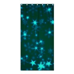 Blurry Stars Teal Shower Curtain 36  X 72  (stall)  by MoreColorsinLife