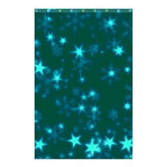 Blurry Stars Teal Shower Curtain 48  X 72  (small)  by MoreColorsinLife