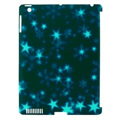 Blurry Stars Teal Apple Ipad 3/4 Hardshell Case (compatible With Smart Cover) by MoreColorsinLife