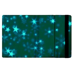 Blurry Stars Teal Apple Ipad Pro 12 9   Flip Case by MoreColorsinLife