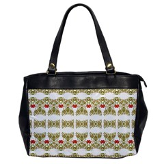 Striped Ornate Floral Print Office Handbags by dflcprints