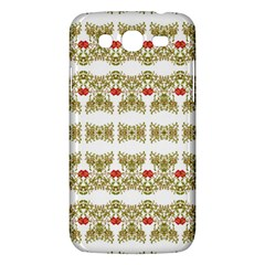 Striped Ornate Floral Print Samsung Galaxy Mega 5 8 I9152 Hardshell Case  by dflcprints