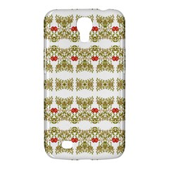 Striped Ornate Floral Print Samsung Galaxy Mega 6 3  I9200 Hardshell Case by dflcprints