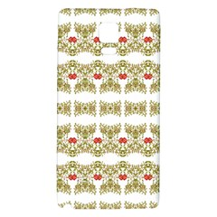 Striped Ornate Floral Print Galaxy Note 4 Back Case by dflcprints