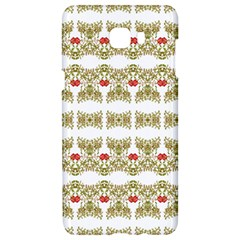 Striped Ornate Floral Print Samsung C9 Pro Hardshell Case  by dflcprints
