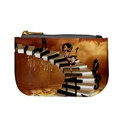 Cute Little Girl Dancing On A Piano Mini Coin Purses by FantasyWorld7