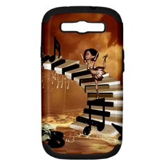 Cute Little Girl Dancing On A Piano Samsung Galaxy S Iii Hardshell Case (pc+silicone) by FantasyWorld7