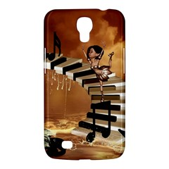 Cute Little Girl Dancing On A Piano Samsung Galaxy Mega 6 3  I9200 Hardshell Case by FantasyWorld7