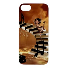 Cute Little Girl Dancing On A Piano Apple Iphone 5s/ Se Hardshell Case by FantasyWorld7