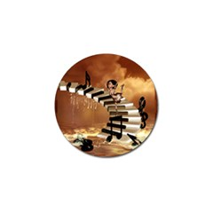 Cute Little Girl Dancing On A Piano Golf Ball Marker (4 Pack) by FantasyWorld7