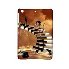 Cute Little Girl Dancing On A Piano Ipad Mini 2 Hardshell Cases by FantasyWorld7