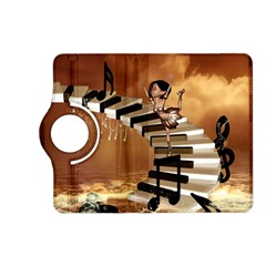 Cute Little Girl Dancing On A Piano Kindle Fire Hd (2013) Flip 360 Case by FantasyWorld7