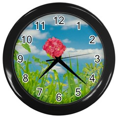 Beauty Nature Scene Photo Wall Clocks (black) by dflcprints