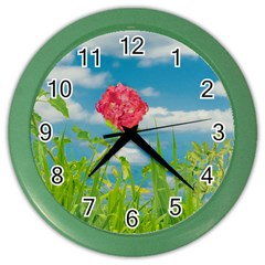 Beauty Nature Scene Photo Color Wall Clocks by dflcprints