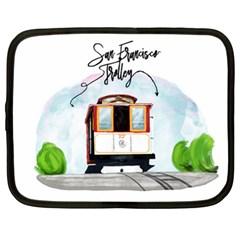 San Francisco Trolley California Bear Netbook Case (xl)  by allthingseveryday