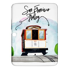 San Francisco Trolley California Bear Samsung Galaxy Tab 3 (10 1 ) P5200 Hardshell Case  by allthingseveryday