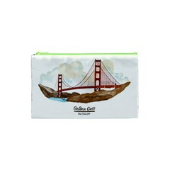 San Francisco Golden Gate Bridge Cosmetic Bag (xs) by allthingseveryday