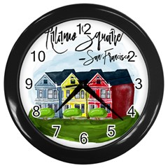 San Francisco Alamo Square Wall Clocks (black) by allthingseveryday