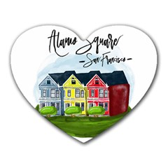 San Francisco Alamo Square Heart Mousepads by allthingseveryday