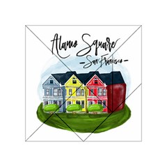 San Francisco Alamo Square Acrylic Tangram Puzzle (4  X 4 ) by allthingseveryday