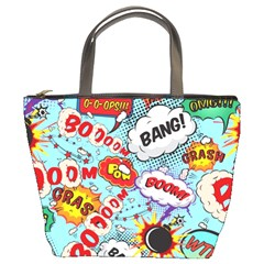 Comic Pattern Bucket Bags by allthingseveryday