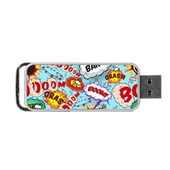 Comic Pattern Portable Usb Flash (two Sides) by allthingseveryday
