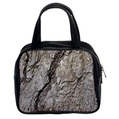 Tree Bark A Classic Handbags (2 Sides) by MoreColorsinLife