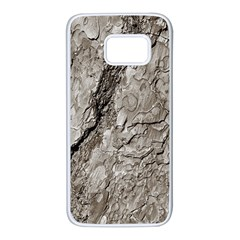 Tree Bark A Samsung Galaxy S7 White Seamless Case by MoreColorsinLife
