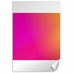 Pink Orange Yellow Ombre  Canvas 20  X 30   by SimplyColor
