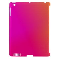 Pink Orange Yellow Ombre  Apple Ipad 3/4 Hardshell Case (compatible With Smart Cover) by SimplyColor
