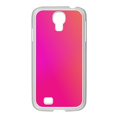 Pink Orange Yellow Ombre  Samsung Galaxy S4 I9500/ I9505 Case (white) by SimplyColor