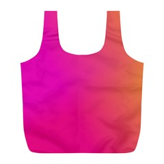 Pink Orange Yellow Ombre  Full Print Recycle Bags (l)  by SimplyColor