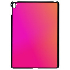 Pink Orange Yellow Ombre  Apple Ipad Pro 9 7   Black Seamless Case by SimplyColor